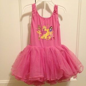 Frilly poofy sparkly princess leotard size 7/8